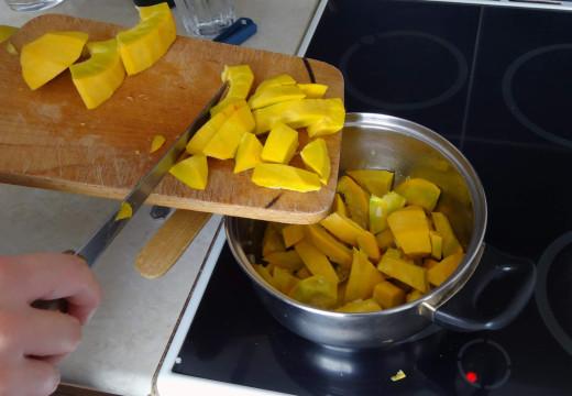 Dýně před uvařením