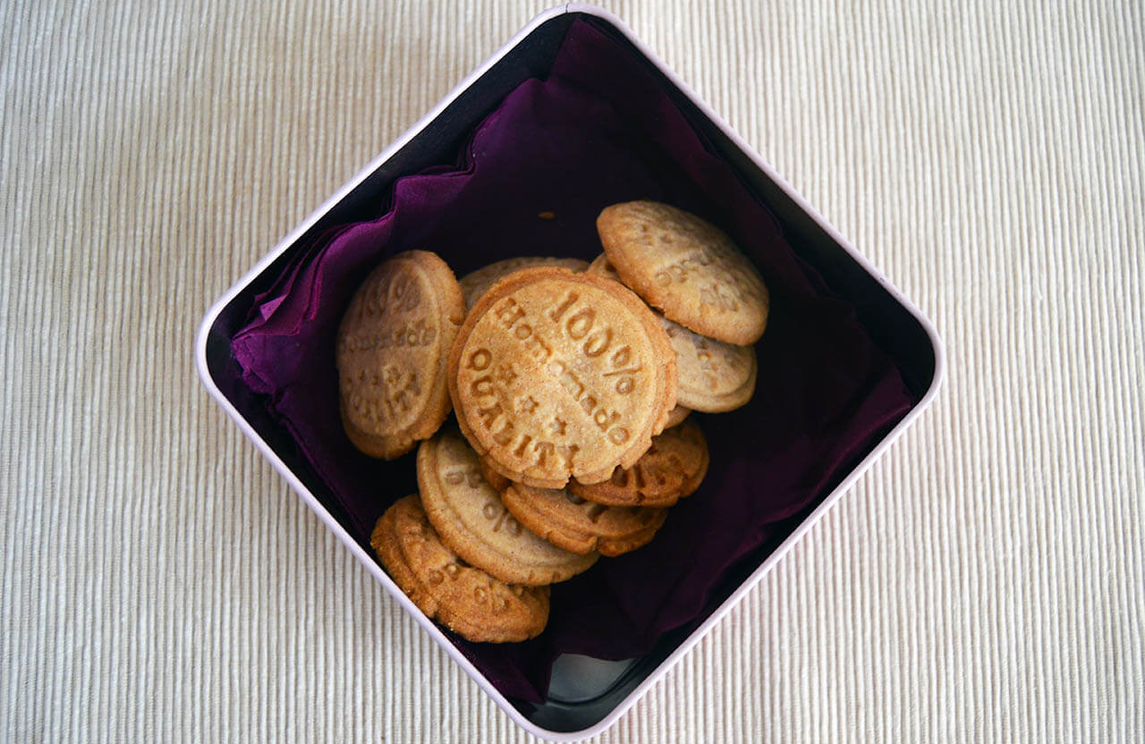 Máslové sušenky v krabičce
