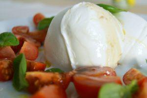 Salát a sendviče Caprese