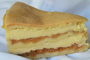 Pudinkový koláč sjablky